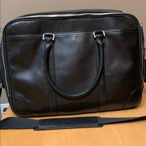 Coach leather laptop bag